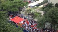 Protesters near the Garden Hotel in Guangzhou