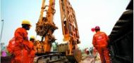 Construction on the Guangzhou Metro, image courtesy of Sina Weibo