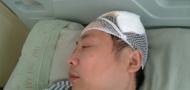 Xu Baozhang recovering in hospital, image courtesy of Sina Weibo