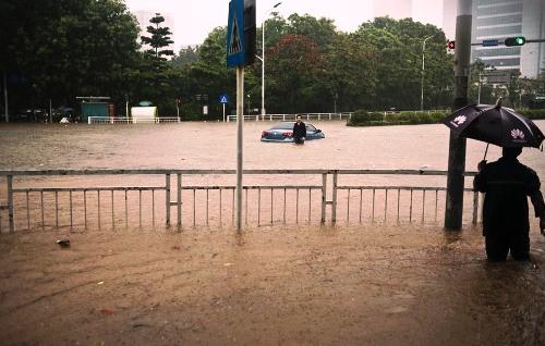 shenzhen flooding rain fall disaster guangdong