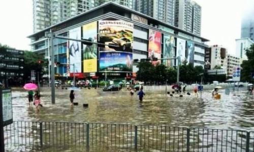 shenzhen flooding rain fall precipitation bad weather guangdong disaster