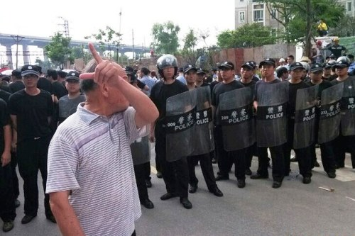 guangdong garbage protest