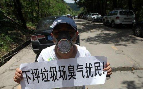 shenzhen smelliest garbage dump protest demonstration