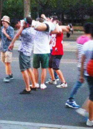 beijing foreigners expat drunk manhandle