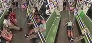 foreigner faints on shanghai metro subway unconscious run away no help support
