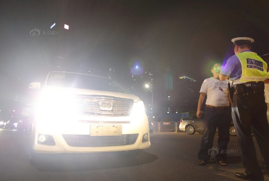 shenzhen high beam drivers punished