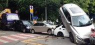 shenzhen six car pileup traffic accident