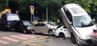 shenzhen six car pileup traffic accident
