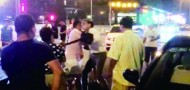 beijing bmw traffic collision whipping