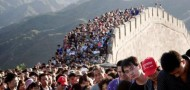 china vacation great wall overcrowded crowds too many people