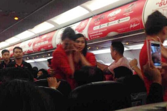 thai airline stewardess instant noodle bomb threat