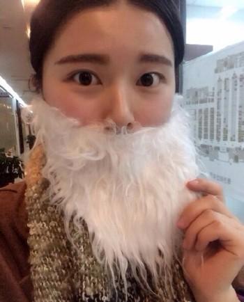 xmas santa beard contest