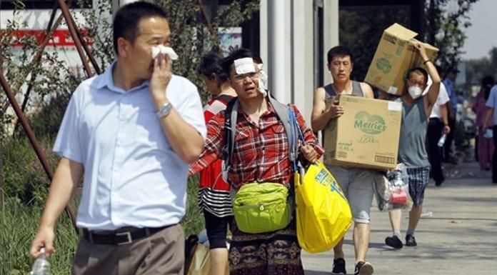 tianjin explosion evacuees